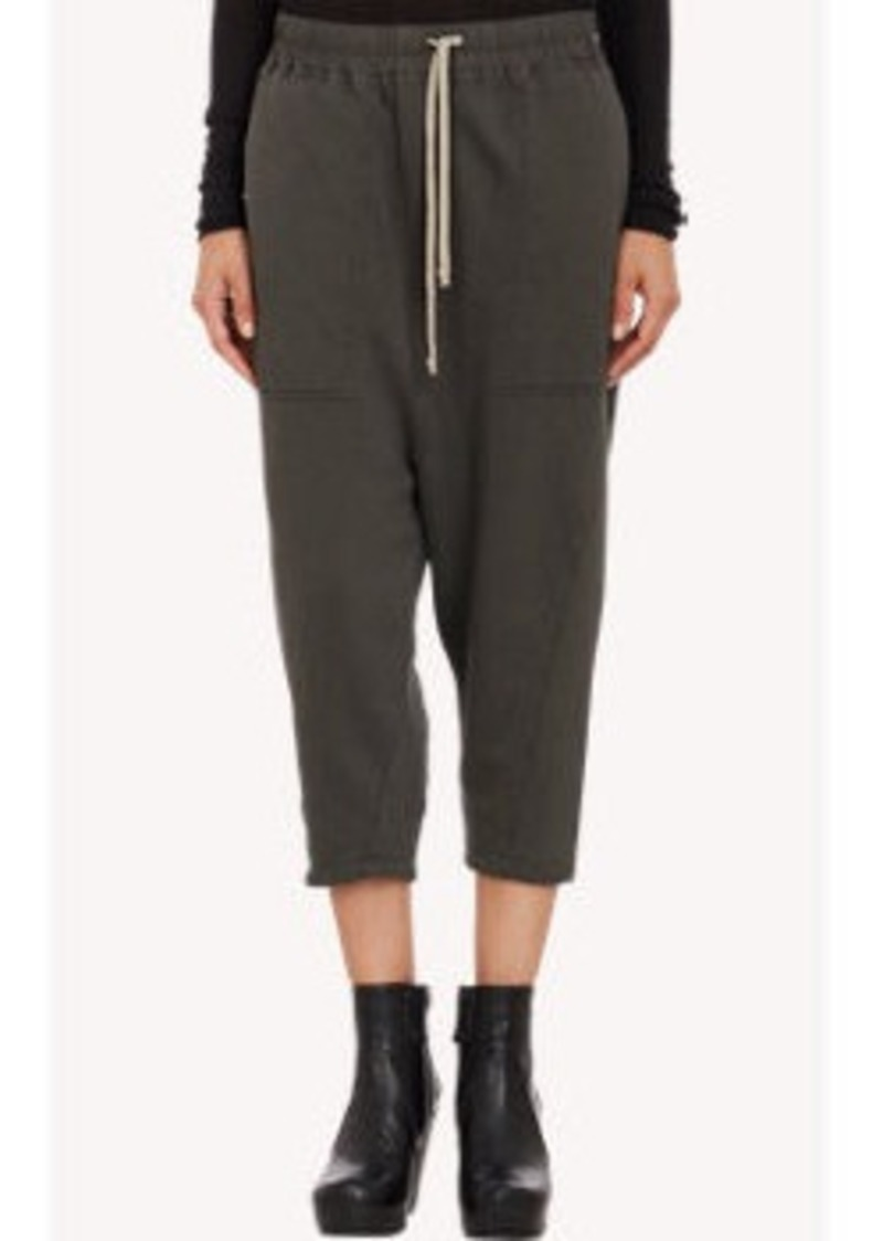 rick owens rick owens drop rise cropped sweatpants casual pants shop it to me. Black Bedroom Furniture Sets. Home Design Ideas