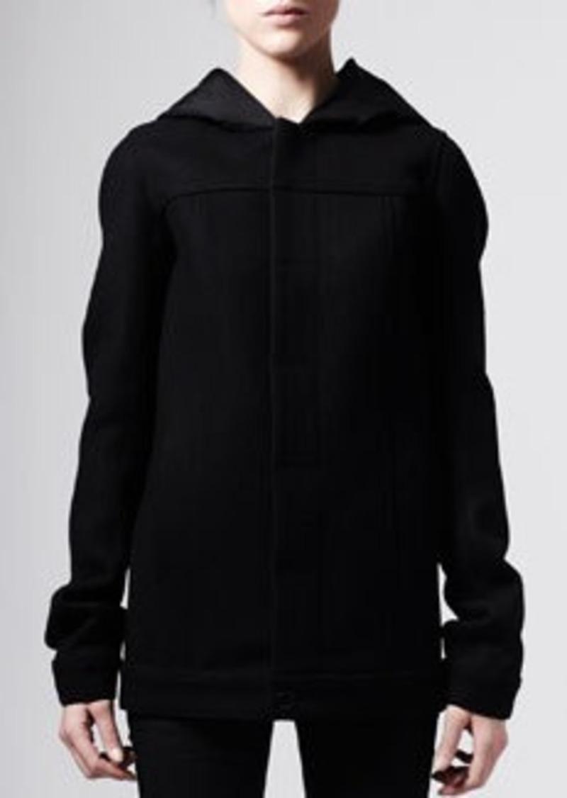 rick owens rick owens hooded bomber coat black outerwear shop it to me. Black Bedroom Furniture Sets. Home Design Ideas