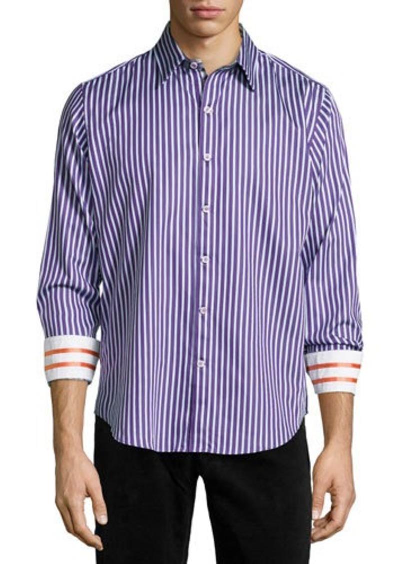 Robert graham robert graham abingdon striped sport shirt for Robert graham sport shirt