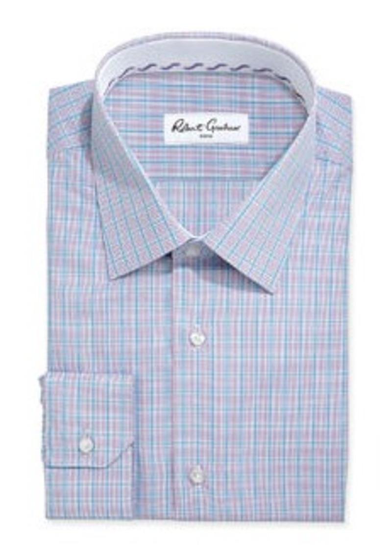 Robert graham robert graham relaxed fit ben windowpane for 18 36 37 shirt size