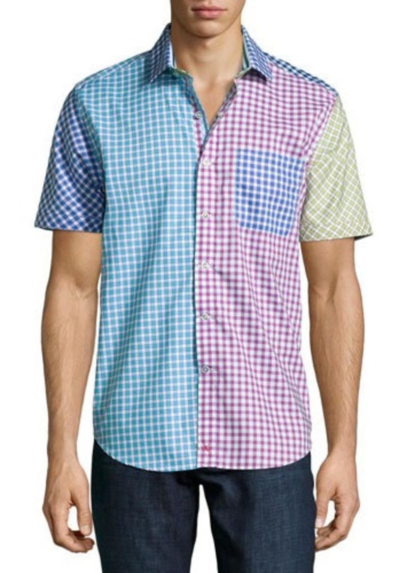 Robert graham robert graham schooner check print short for Robert graham tall shirts