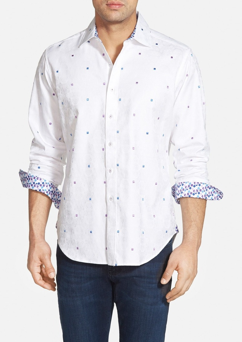 robert graham robert graham 39 wave 39 classic fit sport shirt