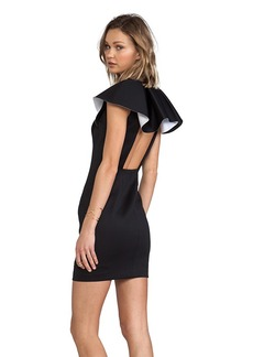 Robert Rodriguez Bonded Neo V Dress in Black