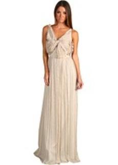 Robert Rodriguez Chiffon Bow Long Dress