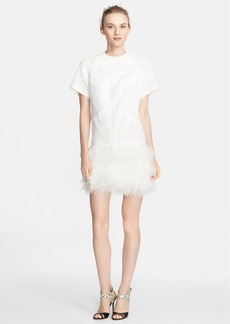 Robert Rodriguez Feather Skirt Drop Waist Dress