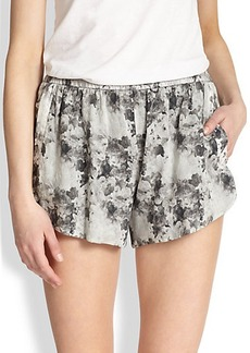 Robert Rodriguez Floral-Print Cotton Track Shorts