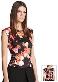 Robert Rodriguez® Floral Scuba Top