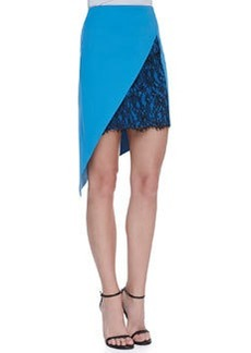 Robert Rodriguez Geo-Lace Inset Ponte Skirt