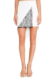 Robert Rodriguez Geo-Lace Skirt in Ivory