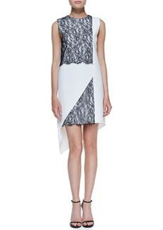 Robert Rodriguez Geo-Lace Two-Tone Dress