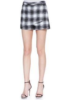 Robert Rodriguez Plaid-Flannel Wrap Shorts