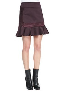 Robert Rodriguez Quorra Embroidered-Stripes Ponte Skirt