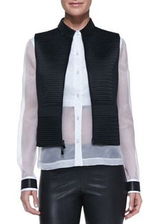 Robert Rodriguez Quorra Texture-Stripe Vest