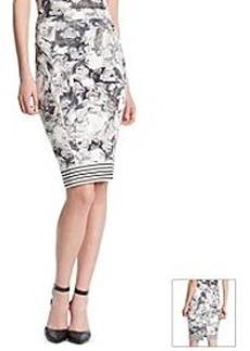 Robert Rodriguez® Village Floral Scuba Skirt