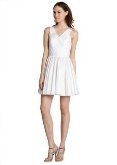 Robert Rodriguez white pleated cutout mini dress