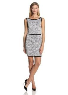 Robert Rodriguez Women's Granite Intarsia Sleeveless Fitted Dress