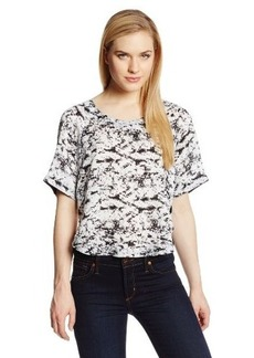 Robert Rodriguez Women's Graphic Cropped Blouse