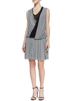 Robert Rodriguez Wrap Stripe Jersey Dress