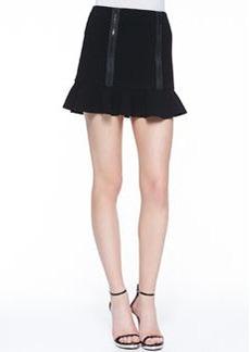 Robert Rodriguez Zip-Detail Knit Flounce Skirt