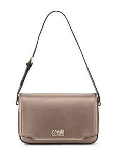Class Roberto Cavalli Aline Metallic Leather Shoulder Bag, Bronze