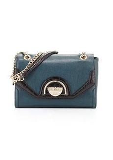 Class Roberto Cavalli Coco Saffiano Leather Shoulder Bag, Dark Green