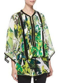 Kimono-Sleeve St. Barths Printed Tunic   Kimono-Sleeve St. Barths Printed Tunic