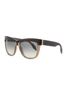 Roberto Cavalli Cat Eye Embossed-Temple Sunglasses