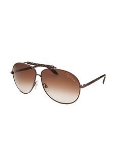 Roberto Cavalli Clematis Aviator Brown Sunglasses