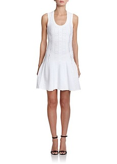 Roberto Cavalli Dropped-Waist Crochet-Knit Dress
