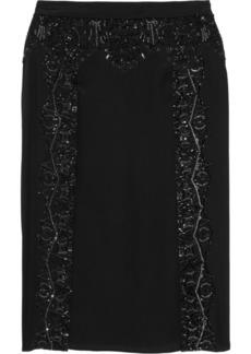Roberto Cavalli Embellished silk skirt