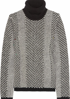 Roberto Cavalli Embellished wool turtleneck sweater