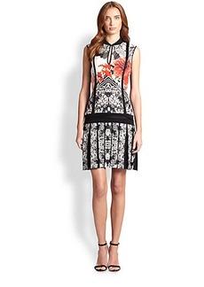 Roberto Cavalli Floral Drop-Waist Dress