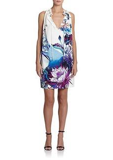 Roberto Cavalli Grommet-Detail Gathered-Neckline Dress