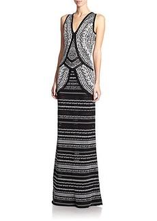 Roberto Cavalli Jacquard Knit Gown