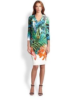 Roberto Cavalli Jungle-Print Punto Dress