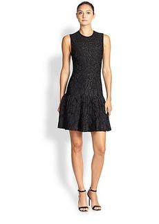 Roberto Cavalli Metallic Knit Jacquard Dress