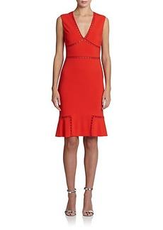 Roberto Cavalli Open-Stitch Knit Dress