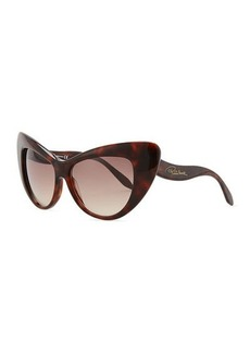 Roberto Cavalli Oversized Cat-Eye Sunglasses, Havana