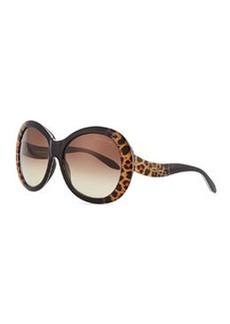 Roberto Cavalli Oversized Leopard-Print Sunglasses