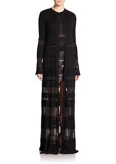 Roberto Cavalli Paneled Knit Duster