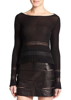 Roberto Cavalli Paneled Knit Pullover