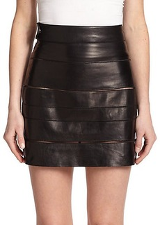 Roberto Cavalli Paneled Leather Skirt