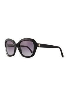 Roberto Cavalli Plastic Butterfly Sunglasses, Black