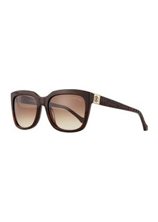 Roberto Cavalli Plastic Square Sunglasses, Havana