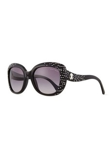 Roberto Cavalli Plastic Square Sunglasses, Smoke