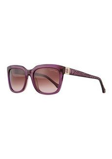 Roberto Cavalli Plastic Square Sunglasses, Violet/Wine