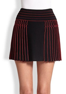Roberto Cavalli Plisse Knit Mini Skirt