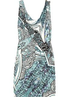 Roberto Cavalli Printed crepe-jersey dress