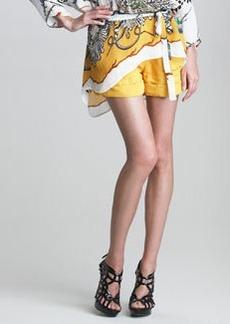 Roberto Cavalli Printed Cuffed Shorts