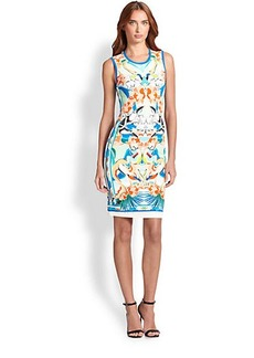 Roberto Cavalli Printed Punto Dress